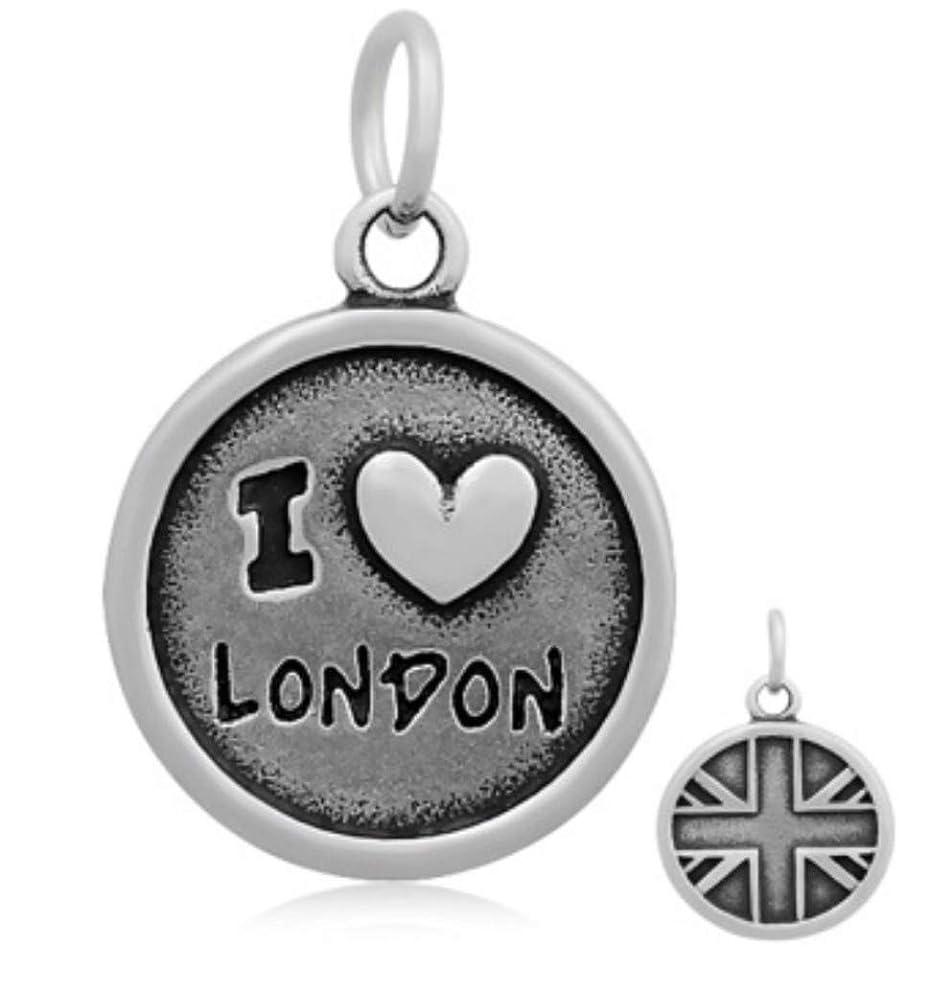 J&M Dangle I Love London Charm for Bracelets
