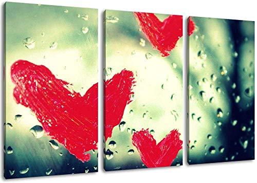 Herz Aus Glas Blatt Dreiteilige Malerei Auf Leinwand Bilder Kunstdruck Auf Wand Bild Poster Rahmenlose Hauptdekoration