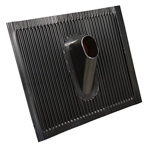 PremiumX Dachabdeckung Alu-Dachziegel Schwarz Dach Montage Abdeckung Ziegel Dachpfanne für Sat Mast und Dachsparrenhalter