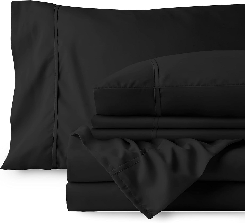 Bare Home 6 Piece 大放出セール California タイムセール King Deep - Bed Pocket Sheets 1800