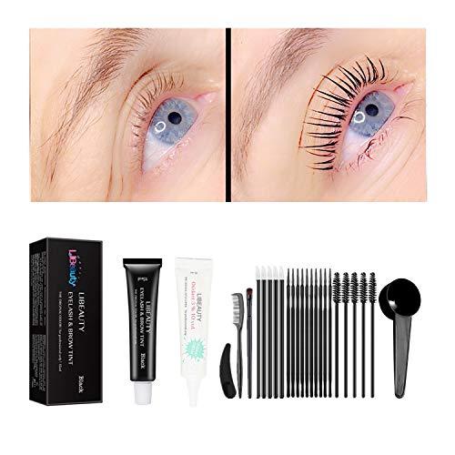 Libeauty Black Lash T-int Kit, Keratin Black Eyelash D-ye 6 Week Lash Tinting Look For Lash Perm/Lift/Lamination