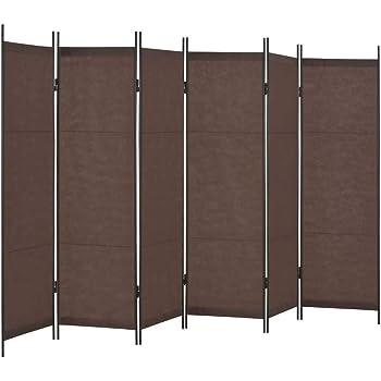 vidaXL Biombo Divisor Mobiliario Decoración Hogar Ocultación Privacidad Independiente Práctico Vestidor Privado Plegable 6 Paneles Marrón 300x180cm: Amazon.es: Hogar