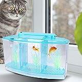 N#A Pecera de Aislamiento de Peces pequeños, Mini pecera de cría de Alta transmitancia Pecera de Aislamiento Transparente, para Peces pequeños Peces bebés Camarones Pez Payaso Guppy(Blue)