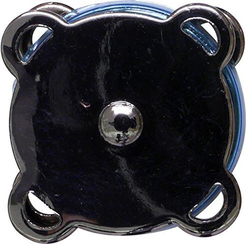 NASKA フラワーマグネットボタン 縫い付けタイプ 18mm ブラックニッケル NPT-21