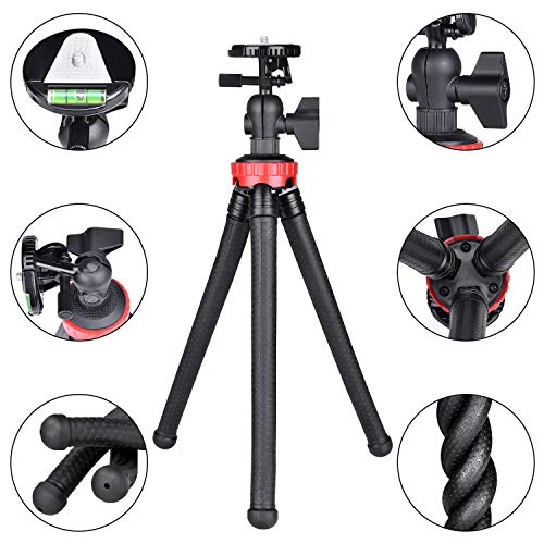 Fantaseal Flexibele Stad, 3in1 Actie Camera Telefoon DSLR Draagbare Bendy Mini Reizen Octopus Statief Camcorder Tafelblad Stand Mount Compatibel voor GoPro Canon iPhone Vlogging Live Streaming-13 inch