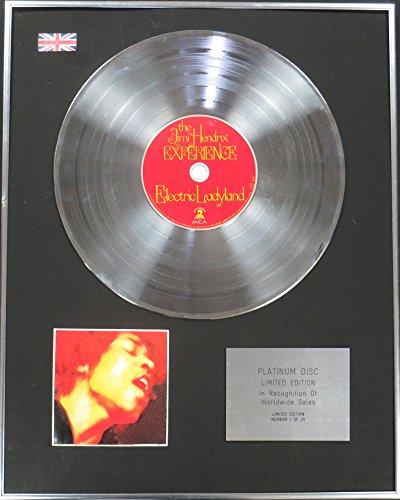 Century Music Awards Jimi Hendrix Ltd Edtn CD Platinum Disc – Electric Ladyland