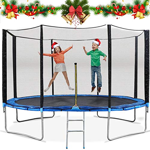 MaxKare 14ft Trampoline with Enclosure Trampoline with Safety Net & Spring Cover Rebounder Trampoline for Kids Adults Outdoor