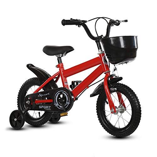NEWPIN Kinderfiets met trainingswielen Uitgerust met een ergonomische stoel, veiligheidsstuurgrepen, stille wielen en schokbestendige poedercoating