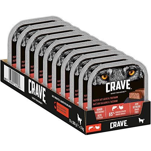 CRAVE Hund Schale Adult Pastete mit Lachs & Truthahn 300g