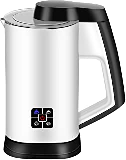 CUSIBOX Milk Frother, Electric Foam Machine, Automatic Hot and Cold Milk Steamer for Coffee, Cappuccino and Macchiato (White), stylish and easy to operate, MF003