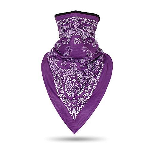 TClian - Polainas para el cuello UPF 50+ UV máscara de protección solar, transpirable, pasamontañas, pañuelo para deportes al aire libre - Morado - talla única