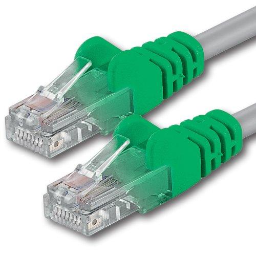 1aTTack - Cable de Red UTP Cruzado, 2 Conectores RJ45, categoría 5, 50 cm