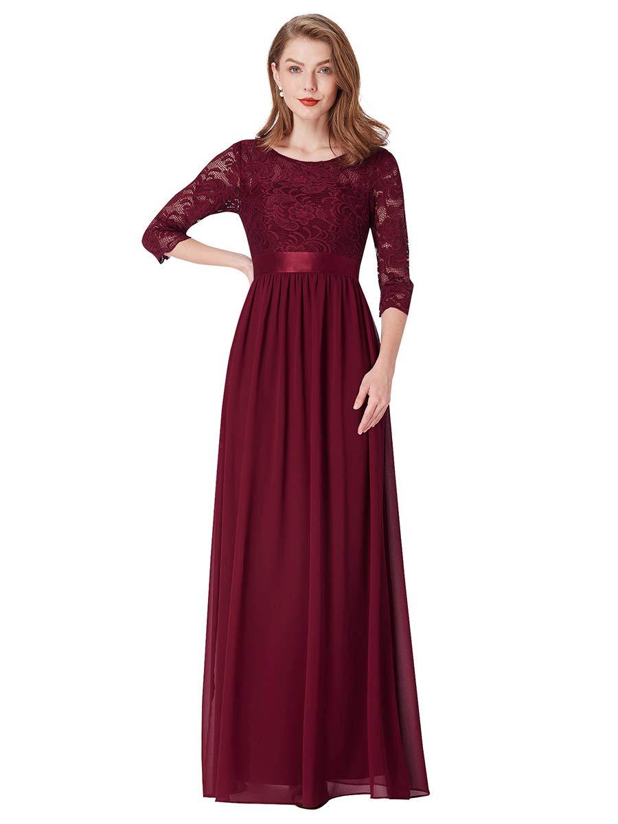 Available at Amazon: Ever-Pretty Women Elegant 3/4 Sleeve Empire Waist Maxi Bridesmaid Dresses 07412