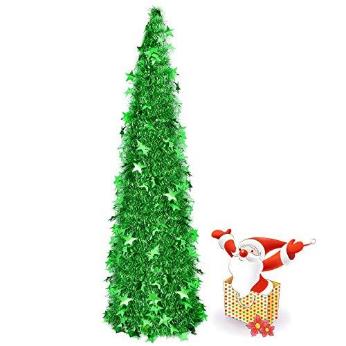 PHYLES �rbol de Navidad Artificial Tinsel 120 cm, Plegable