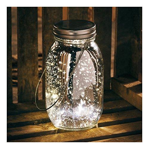 Primitives by Kathy Mercury Glass Lantern Jar Light, Silver