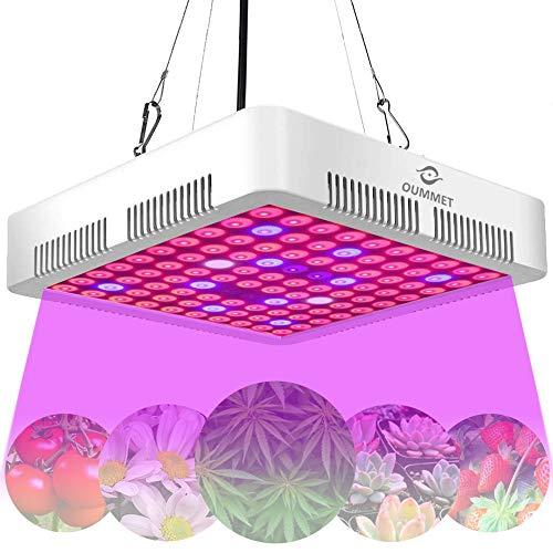 「最新型」OUMMET LED 植物育成ライト 1200W タイミング定時機能(4H/8H/12H)フルスペクトル ダブルチップ 植物育成用パネルライト 100LEDランプ 室内栽培ライト 観賞用 植物成長促進用ランプ 野菜育成 日照不足解消 室内植物成長