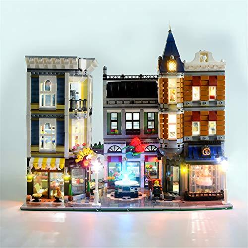 Kit De Luces Led Para Creator Gran Plaza, Compatible Con El Modelo De Bloques De ConstruccióN De Juguetes Lego 10255 (No Incluido El Modelo)