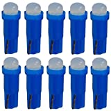 AERZETIX: 10 x Bombillas T5 12V LED COB 1W para salpicadero Luz azul