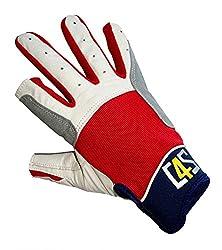 crazy4sailing Segelhandschuhe Cruising - 2 Finger geschnitten, Farbe:rot, Größe:L