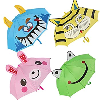 Parapluie pour enfants Animaux 3D New impression parapluie mignon for outils de fille parapluie pluie long manche enfants garçon dessin animé enfants enfants enfants Extérieur ( Color : Kitten )