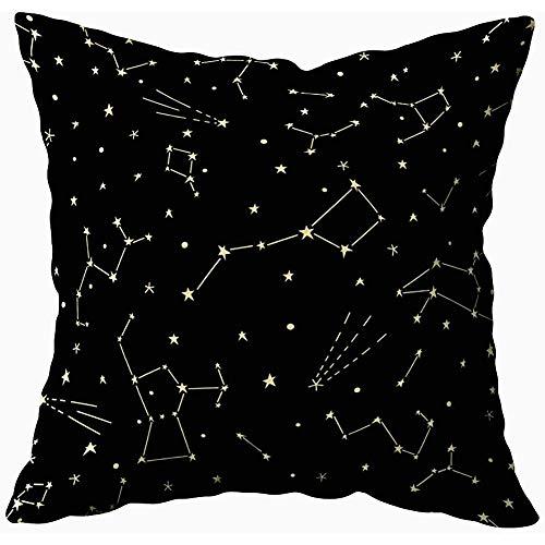 Juli kussensloop cover Galaxy patroon met sterrenbeelden en planeten Kosmische achtergrond binnen en buiten gebruik