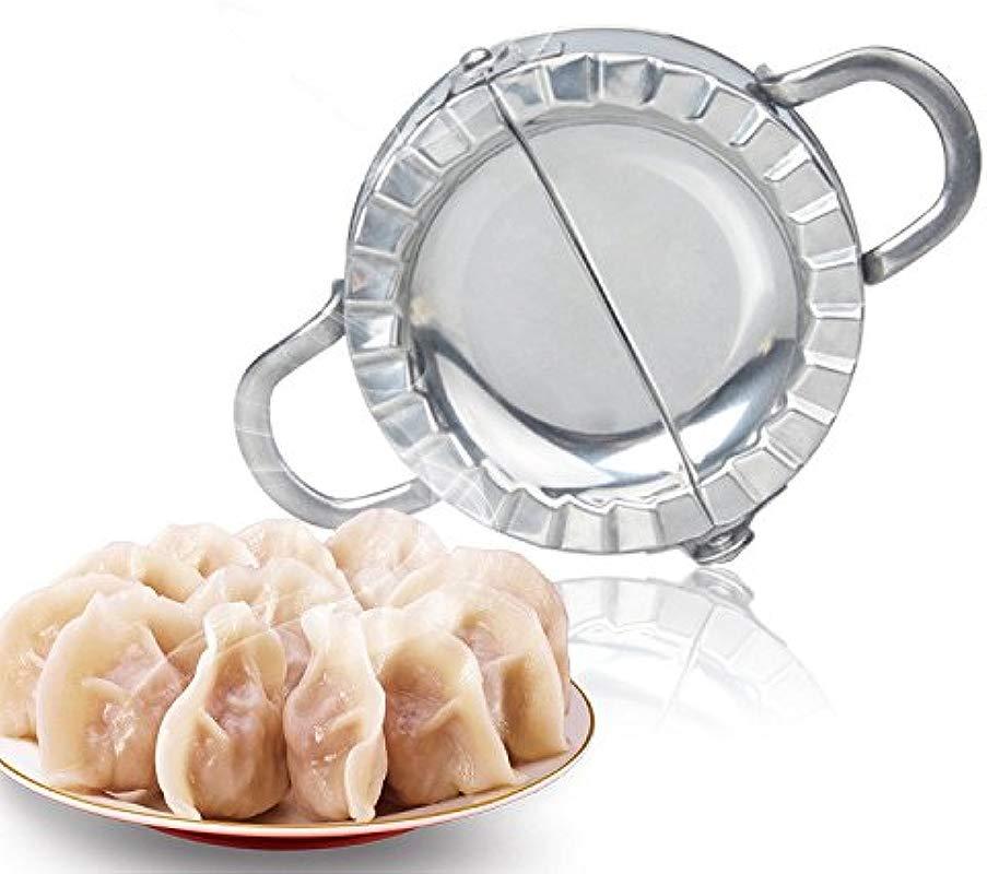 TUU Stainless Steel Manual Dumpling Ravioli Diy Making Mold Kitchen Pastry Tools Dough Cutter Dough Press Maker Silver