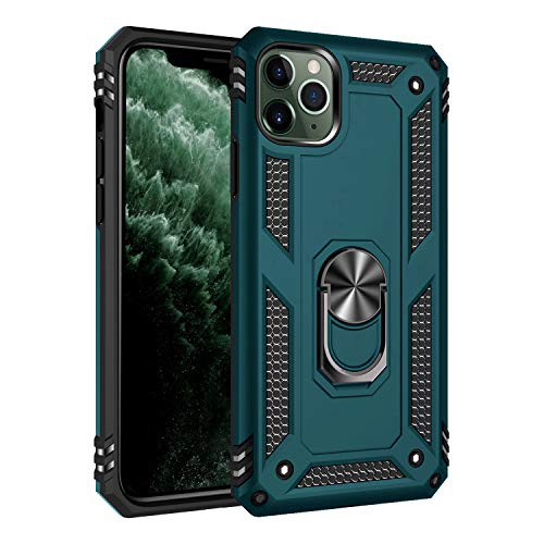 MXX iPhone 11 Pro Max Case, Military Grade Shockproof Heavy Duty Armor Dual Layer PC/TPU Cover [15ft Drop Tested] with Metal Kickstand Protective Case for iPhone 11 Pro Max (Tuscan Teal)