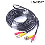Cocar 50FT 15M All-in-One BNC Vídeo Extensión Cable con Co