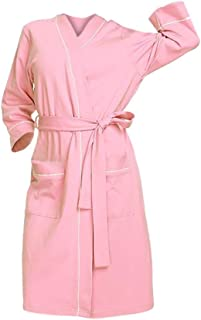 Women V-neck Long Sleeve Nightgown Robe ❀ Ladies Solid Casual Pajamas Pocket Nightwear Lingerie Bathrobe With Belt
