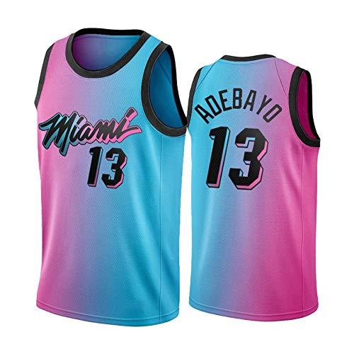 BJZX Miami #13 Adebayo, chaleco deportivo sin mangas, suave y repetible, para entrenamiento diario, edición de la ciudad, camiseta de baloncesto unisex (S-XXL) M