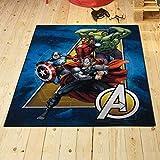 UNAMOURDETAPIS Tapis Chambre Avengers 02 Team Multicolore 95 x 125 cm Tapis Enfant et Disney