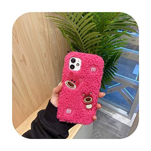 Carcasa para Samsung Galaxy S30, S20, FE, S21, Ultra S10 Lite, S9, S8 Plus, S7, S6, S5, S4, S3, diseño de oso rojo, rosa