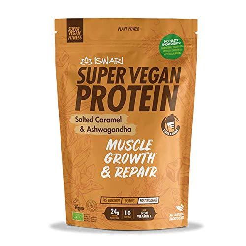 ISWARI SVF Protein Salted Caramel & ASHWAGANDHA 350 gr, Neutro, Estándar