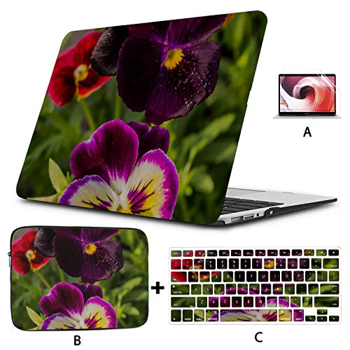 MacBook Shell Pansy Representing Love Mac Pro Cover Hard Shell Mac Air 11'/13' Pro 13'/15'/16' with Notebook Sleeve Bag for MacBook 2008-2020 Version