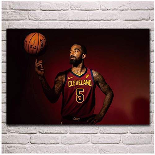 FACAIA J R Smith - Póster de baloncesto con diseño de jugador de baloncesto (60 x 90 cm, sin marco)