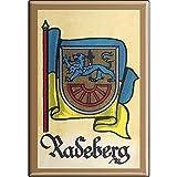 Küchenmagnet - Wappen Radeberg - Gr. ca. 8 x 5,5 cm - 37542 - Magnet Kühlschrankmagnet