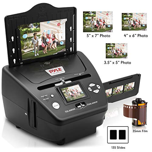 Pyle Digital 3-in-1 Photo, Slide and Film Scanner - Convert 35mm Film Negatives & Slides - With HD 5.1 MP - Digital LCD Screen, Easy to Use