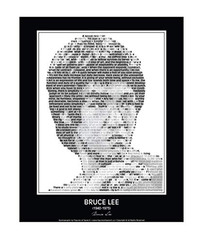 Inspirational Bruce Lee Quotes Poster. Bruce Lee Print made from Bruce Lee quotes! Wall Art. Home Decor. 11'x 14' (unframed)