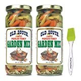 Old South Pickled Fancy Garden Mix 16 fl oz (2 Pack) Bundled with PrimeTime Direct Silicon...