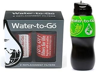 Water-to-Go Eau pour mener 3/en 1/Filtre instantan/é Ext/érieur Hydratation avec Eau Filtration Purificateur Cartouche De Rechange