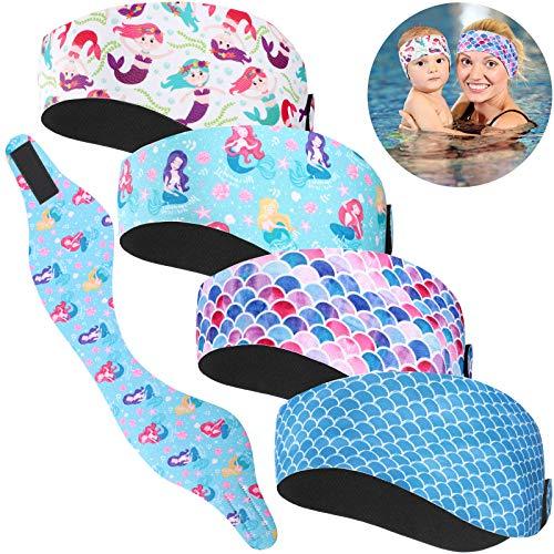 4 Pieces Swimming Headband Mermaid …