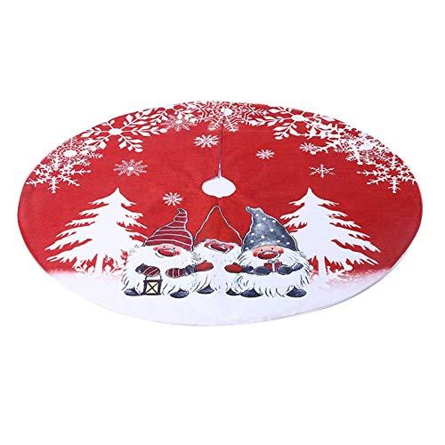 Luckxing Weihnachtsbaumdecke Rot Grau Christbaumdecke, Weihnachtsmann, Weihnachtsgnom Weihnachtsbaum Dekoration Baumdecke Weihnachten Tannenbaum Decke Decke Für Weihnachtsbaum Christbaum Rock