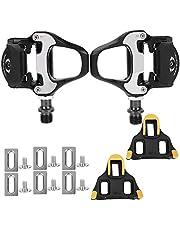 1 Paar Fietspedalen, Snelsluiting Fietsschoenen Pedaal Schoenplaatjes Spd-Sl 6 ° Borgplaat, Antiroest Antislip Racefietspedalen, voor Vervanging van Fietsreparatie