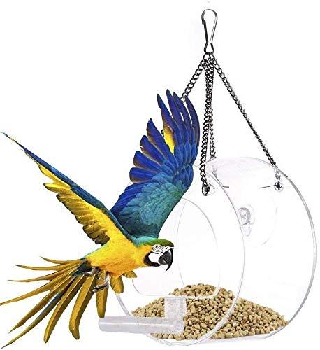 HIGHKAS Alimentador Semillas Colgantes Alimentador beberos Agua para pájaros Paloma Dispensador macetas plástico Contenedor Palomas Aves Corral Aves Suministros Herramientas - 4L (Tamaño: 4L)