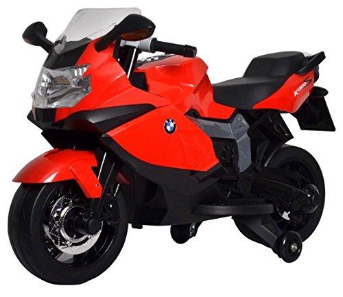 Babycar 283r - Moto Elettrica per Bambini BMW K 1300 S con Rotelle Incluse, 12 Volt, Rosso