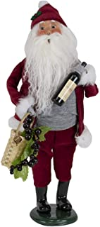Byers' Choice Wine Santa Caroler Figurine from The Santa Collection #3190 (New 2019)