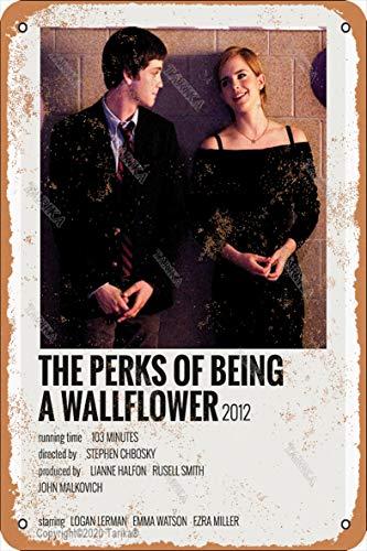 Letrero de pintura con diseño de The Perks Of Being A Wallflower de 2012, 20 x 30 cm, diseño retro, para decoración de pared, cocina, baño, granja, jardín, garaje, citas inspiradoras