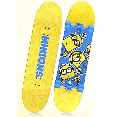 Hignful Skateboard Niño 31'' para Principiantes Adultos Y Niños, Surf Skate Tabla Completa Patineta Retro Cruiser De Madera De Arce, Monopatín con 4 Ruedas, Unisex Adulto(Minions)