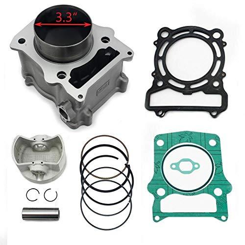 TARAZON Cylinder repair kit for 500cc ATV UTV 3.3' Diameter HISUN HS500 MASSIMO MSU500 BENNCHE, Piston and Ring Kit,Gasket Kit