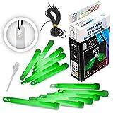 KNIXS fgs11484Premium Power–Set di tubi luminosi pieghevoli con speciale gancio e nastro di fissaggio, robusto, intenso e lunga, colore: verde brillante, 15x 1,5cm